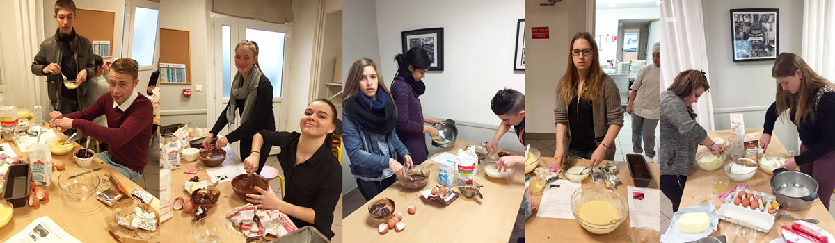 Fabrication de gâteaux pour récolter des fonds pour Fondation MFR