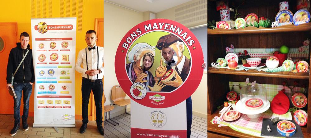 Visite de la Fromagerie Vaubernier Bons Mayennais MFR CHATEAUBRIANT